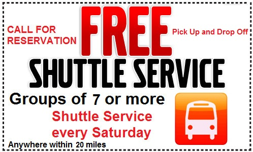 Shuttle every Saturday